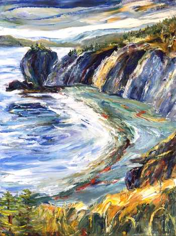 Backside Beach (right), original oil painting by Brenda McClellan