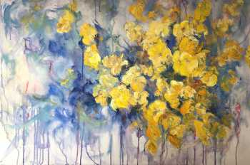 Blast of Yellow II, original oil painting by Brenda McClellan