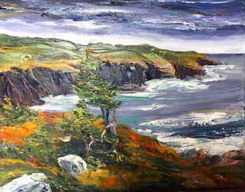 Coastal Trail I, original oil painting by Brenda McClellan