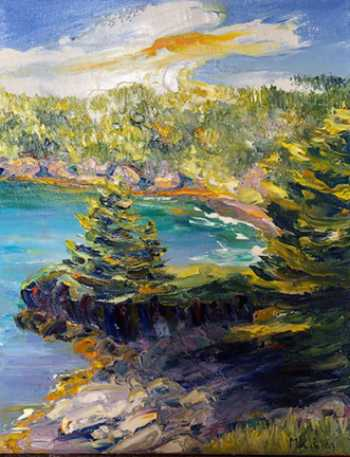 Coastal Trail III, original oil painting by Brenda McClellan