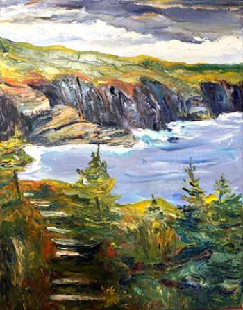 Coastal Trail IV, original oil painting by Brenda McClellan