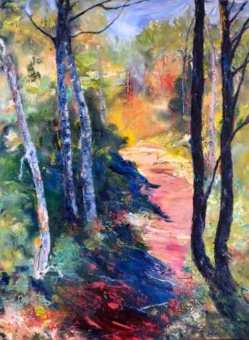 Follow the Path, original oil painting by Brenda McClellan