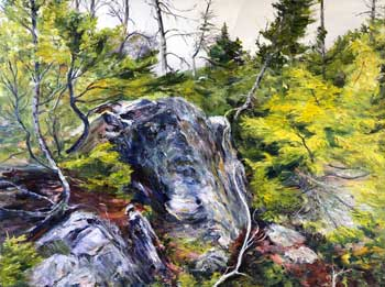 On The Rock, original oil painting by Brenda McClellan