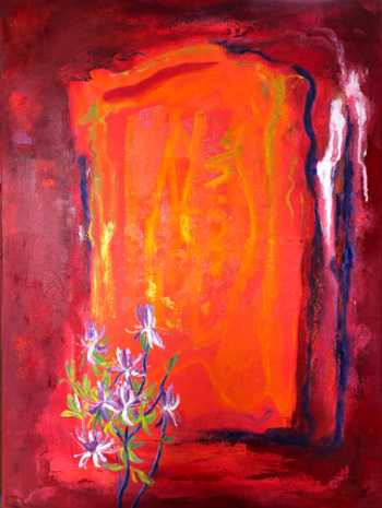 Rhodora, original oil painting by Brenda McClellan
