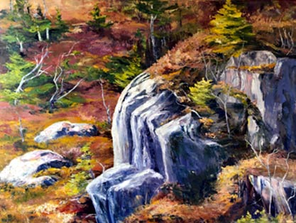 Rock On The  Rock, original oil painting by Brenda McClellan