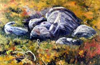 More Rocks, oil painting my Brenda McClellan
