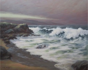 -painting by Doug Downey - Approaching Wave