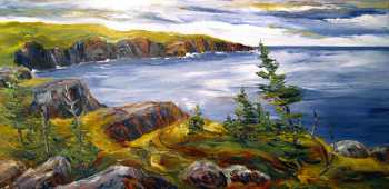 Coastal Trail VIII, Original oil painting by Brenda McClellan