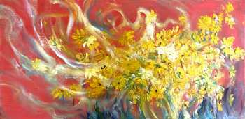 Profusion in Yellow, Original oil painting by Brenda McClellan