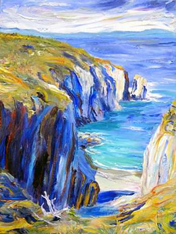 Shoe Cove Walk, Original oil painting by Brenda McClellan