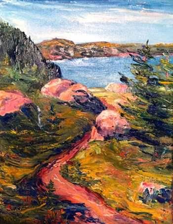 Signal Hill, Original oil painting by Brenda McClellan