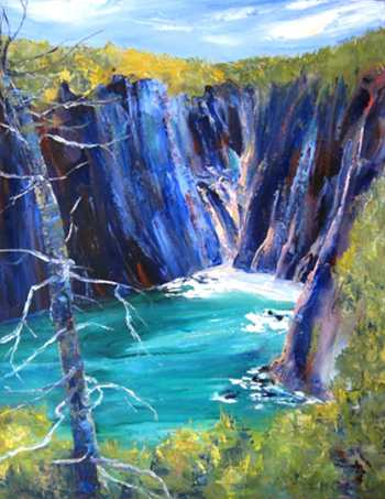 Steep Cliffs, Original oil painting by Brenda McClellan